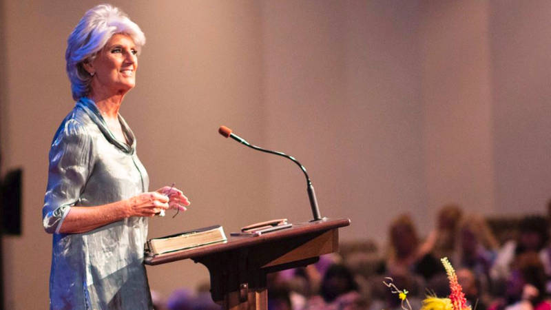 Anne Graham Lotz preaching the Gospel